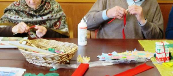 Stelle di Natale di carta stoffa brillantini e fantasia
