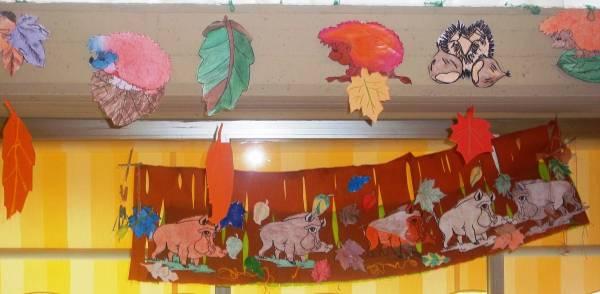 Addobbi autunnali nel salone del centro for Addobbi autunno scuola infanzia